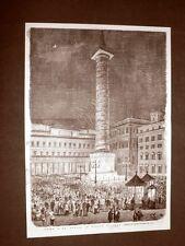 Rarissima veduta di Roma del 1876 La musica in Piazza Colonna Lazio