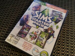 THE SIMS 3 STARTER PACK 3 GAMES IN 1 PC MAC DVD-CD-ROM