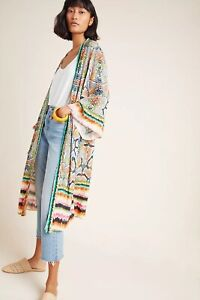 NWT Anthropologie Bl-nk Annette Duster Kimono One Size XS S M L XL