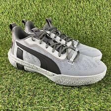 Puma Legacy Quarry Low Basketball Shoes Gray Black 193601-01 Men's Size 11 NEW