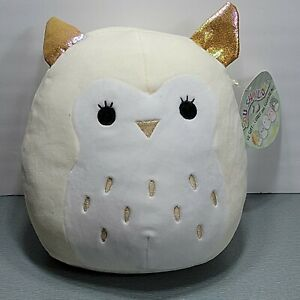 """Yay! 8"""" JAXTON the Gray White OWL Baby with RATTLE Squishmallow  2021 Plush Toy"""