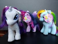 "My Little Pony SET OF 6 - 6"" Plush Figure - Rainbow Dash, Rarity... - NEW"