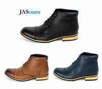 Mens Casual Ankle Boots Fashion Biker Formal Shoes Smart UK 6 7 8 9 10 11 NEW