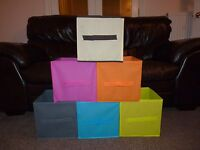 Storage Boxes Foldable Canvas Boxes Bedroom Storage Office Various Colours