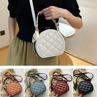 Women Crystal Handbag Crossbody Purse Quilted Shoulder Evening Clutch Shell Bag