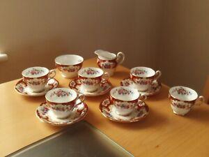 Vintage 1950s Royal Standard Lady Fayre Bone China Part Teaset 13 Pieces