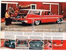 1959 Plymouth SUBURBAN Station Wagon Red & White 4-door Vtg Print ad
