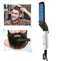 Multifunctional Hair Straightener For Men Comb Curling Electric Brush Beard Comb