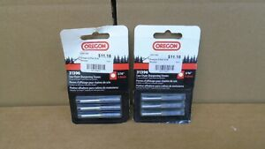 """Two New Oregon 31396 3/16"""" Saw Chain Sharpening Stones 4.8mm Three Pack"""