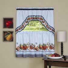 GOLDEN DELICIOUS APPLES COMPLETE KITCHEN CURTAIN SET FRUITS