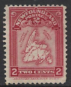NEWFOUNDLAND SCOTT 86 MNG FINE - 1908 2c ROSE CARMINE ISSUE (A)  CAT $55*