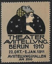 German Cinderella stamp: Theater Exhibition, Oct-Jan, 2010, Berlin - cw50.36