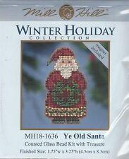 Christmas Ye Old Santa Glass Bead & Treasure Mill Hill Kit