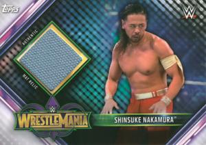 Topps WWE Champions 2019 Wrestlemania Mat Relic Shinsuke Nakamura MR-SN