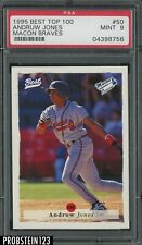 1995 Best Top 100 #50 Andruw Jones Macon Braves RC Rookie PSA 9 MINT