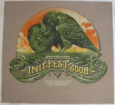 Initfest 2008 Silkscreen Poster Art Print Aaron Horkey kraft variant