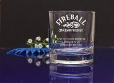 Personalised FIREBALL CINNAMON WHISKY/Tumbler Glass Birthday Christmas gift 80