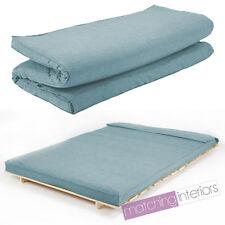 Duck Egg Linen Fabric Double Folding Sleeping Bed Replacement Mattress for Futon