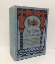 Vintage 1930s Page and Shaw Choicest Creams Candy Box Ephemera Decor