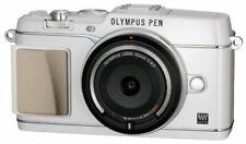 Olympus Mirrorless Single-Lens Pen E-P5 Body (Body Cap Lens Bcl-1580 Set) White