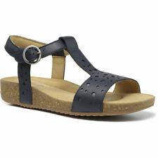 Hotter Women's Festival Wide Fit Cork Sandal Leather Zip Fastening Adult Sandals