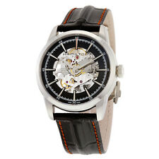 Hamilton Railroad Black Skeleton Dial Black Leather Mens Watch H40655731