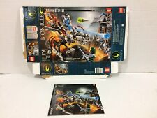 Lego 8892 Bionicle Playsets Piraka Outpost BOX and MANUAL ONLY!