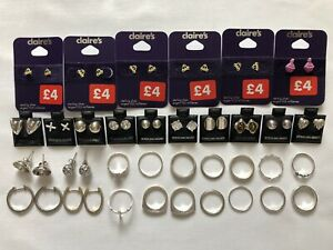 Joblot Of 925 Sterling Silver Rings & Earrings All Wearable