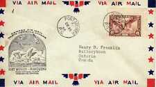 CANADA 1ers vols first flights airmail 100