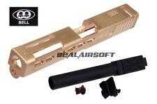 BELL Custom Slide ZEV Type For Marui G17 Airsoft GBB (Gold / Black Barrel) Type2