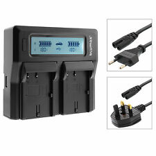 Dual Twin LCD Battery Charger with High and Low Modes for JVC BN-VG114 VG114