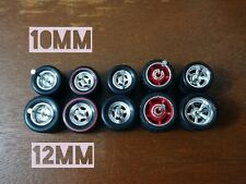 HOT WHEELS MBX MIX (A) R/R RUBBER WHEELS TIRES 5 SETS 1/64 SIZE 10/12 CHROME RED