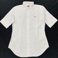 Ralph Lauren Women's Slim Fit Chambary Oxford Shirt In White