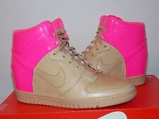 WMNS Nike Dunk Sky Hi VT QS SZ 10.5 Vachetta Tan Pink Flash Wedge 611908-202