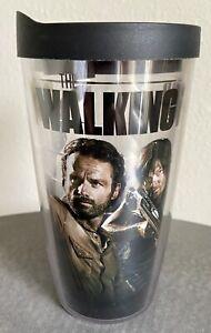 The Walking Dead AMC Tervis Travel Mug Drink Cup Rick / Darryl 16oz BPA Free HTF