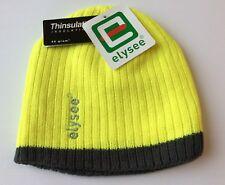 Warnschutz Mütze Elysee® wattiert Thinsulate NEU Wintermütze gelb/grau