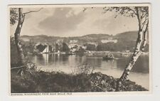 Cumbria postcard - Bowness, Windermere from near Belle Isle