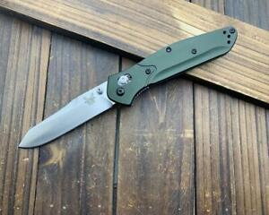 CNC 940 Green Aluminum Handle AXIS Lock Folding Pocket Knife EDC Copy