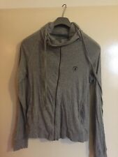 All Saints Men's Grey Funnel Neck Zip Jumper - Size Extra Small