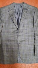 NWT $3500 D'AVENZA ALL HAND MADE  FULL CANVAS 42 FLANNEL CASHMERE WOOL  GRAY