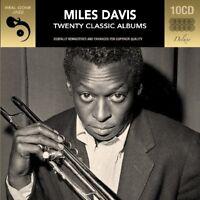 MILES DAVIS - 20 CLASSIC ALBUMS DELUXE KLAPPBOX, DIGITAL REMASTERT 10 CD NEW+