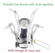 Portable Foldable Outdoor Gas Burner for Picnic Camping Mini Stove & Carry Case