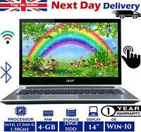 "Acer Aspire V5-471P 14"" Touch Laptop Intel i3 2nd-Gen 1.50Ghz 4GB RAM 320GB HDD"