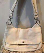 COACH Kristin White Leather Hobo Handbag