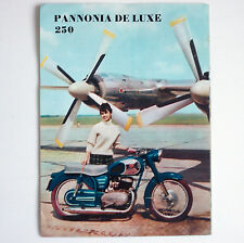 WERBEBLATT FLYER KLEINKRAFTRAD MOPED PANNONIA DE LUXE 250 UNGARN DDR 1964