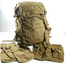 USMC FILBE Main Pack Rucksack Frame Suspension System Belt Pouches Coyote L NEW