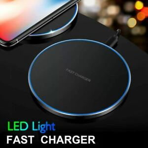 15W Qi Wireless Charger Fast Charging Pad Mat for Samsung iPhone Android Phones