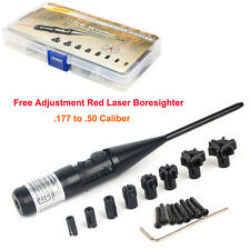Free Commiss Collimator Red Laser BoreSighter kit for .177 to .50 Caliber Rifle
