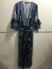 TOV designer ladies size 42 gorgeous denim look maxi dress