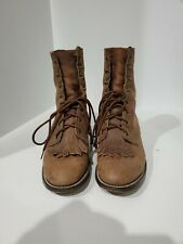 Laredo Womens Brown Leather Western Ankle Boots Size 7 M